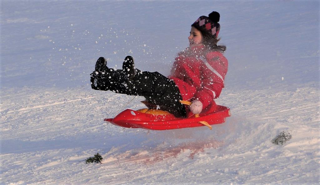 La luge reste l'activité reine des enfants en hiver