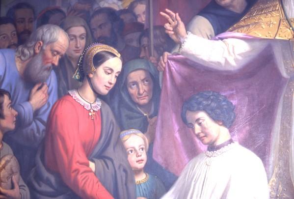 Détail de peinture de Jacques Guille