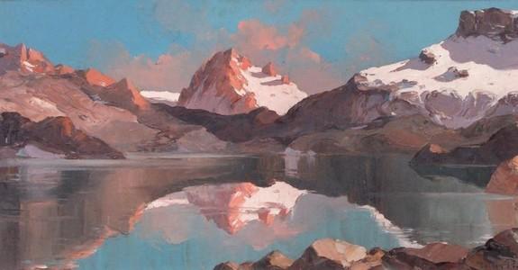 Tableau La montagne du peintre Lucien Poignant
