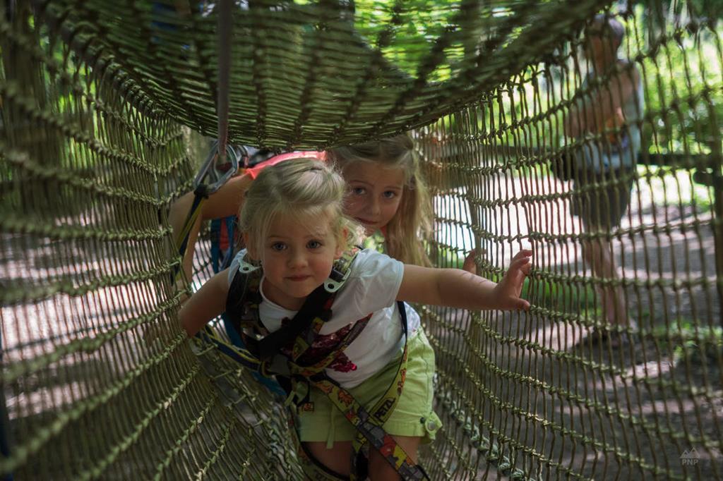 Un parcours dédié aux enfants à l'Aravis Parc d'Aventures