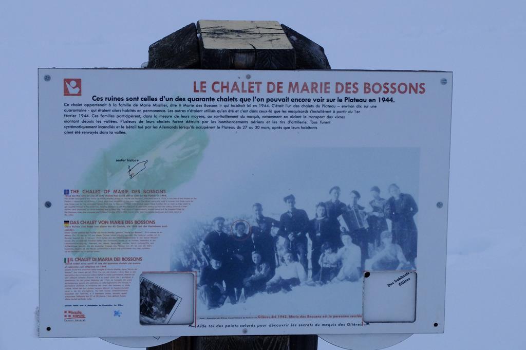 Sentier de découverte relatif à l'histoire des Résistants de Haute-Savoie