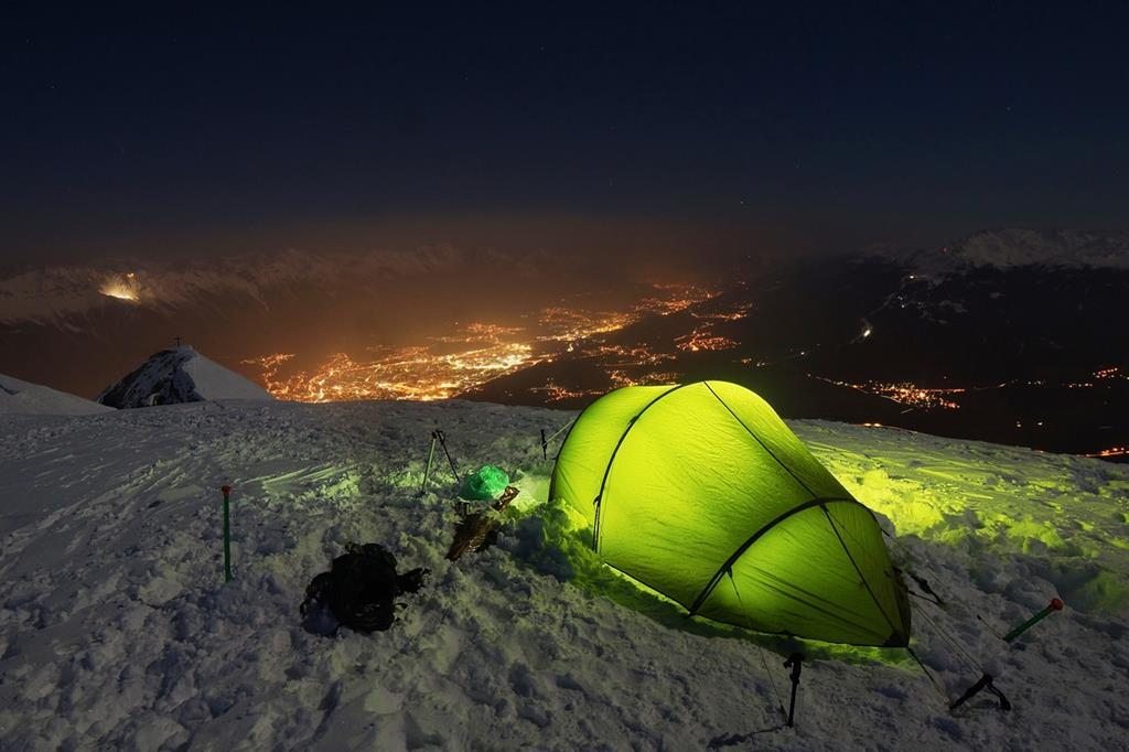 La tente est idéale pour contrer le vent