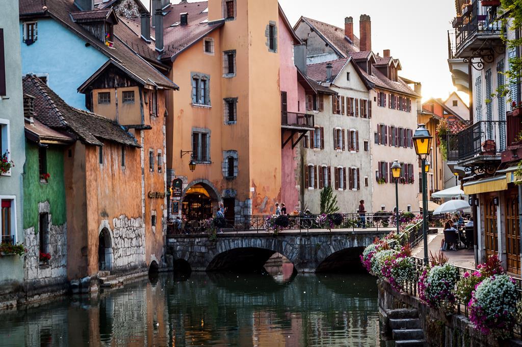 Les maisons colorés de la vieille ville d'Annecy